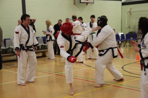 black belt sparring